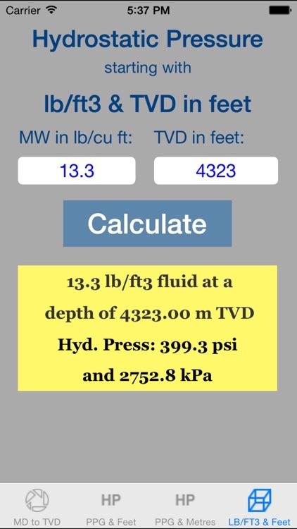 OilField Hydrostatic Pressure Pro screenshot-3