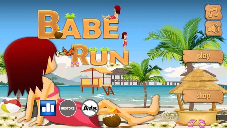 Babe Run - Running In Bikini