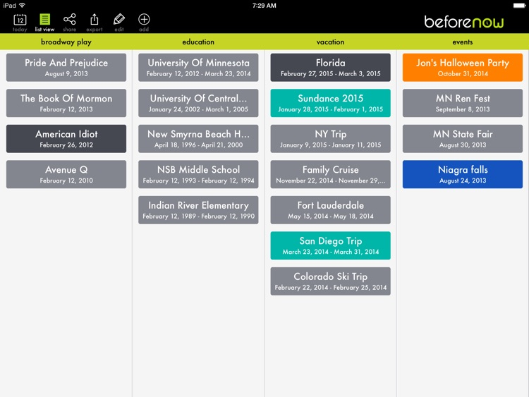 BeforeNow - Personal Timeline Creator and Journal screenshot-3