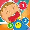 学校での子供たちのためのゲームを数える:数字1〜10をカウントすることを学ぶ