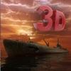 潜水艇斗争飞船 3D - 庞歼击轰炸机炮击寇核潜艇在海水