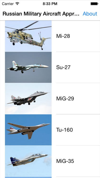 Russian Military Aircraft Appreciate Guide -iPhone screenshot-0