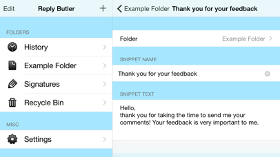 Reply Butler Lite - Text Snippets for Customer Support screenshot two