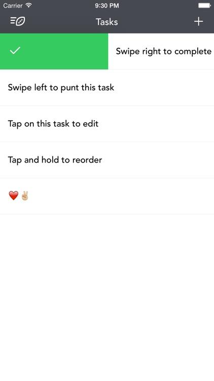 Punt – Simple task list