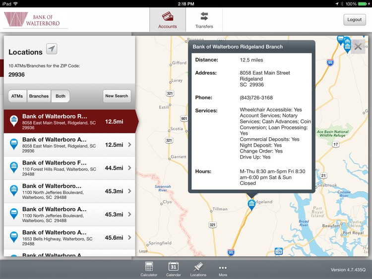Bank of Walterboro Mobile App for iPad screenshot-4