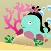 アクティブ! 子どもたちが海の動物との形状を再生し、学ぶためのシャドウゲーム