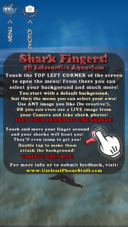 Shark Fingers! 3D Interactive Aquarium FREE screenshot-4