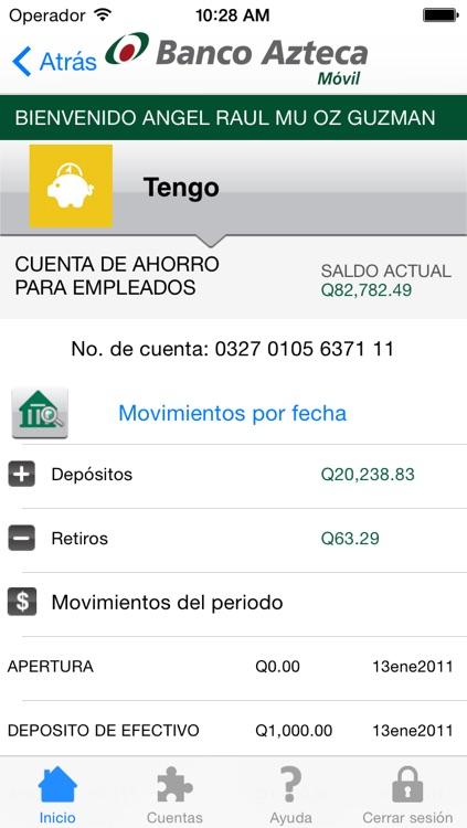 Banco Azteca Móvil Guatemala screenshot-3