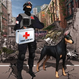 Earthquake Relief & Rescue Simulator : Play the rescue sniffer dog to Help earthquake victims.