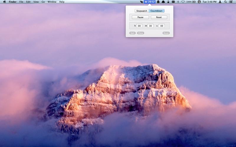 Menu Timer - Countdown and stopwatch скриншот программы 1