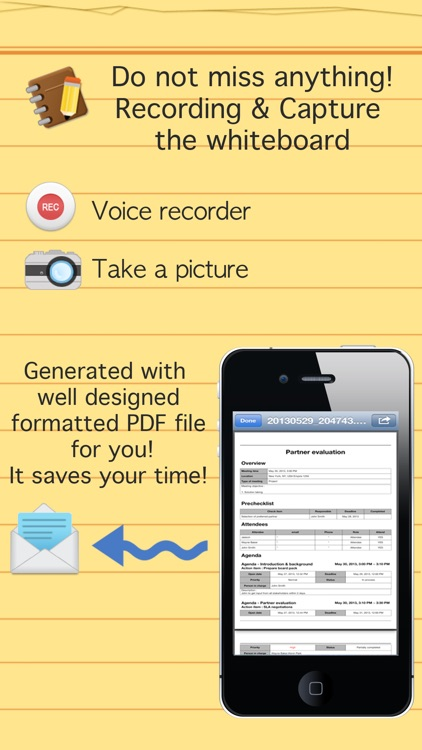 Smart meeting minutes Basic - Schedule check list