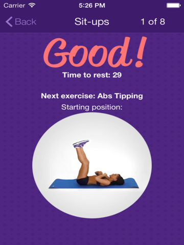Amazing Abs – Personal Fitness Trainer App – Daily Workout Video Training Program for Flat Belly and Calorie Burn-ipad-1
