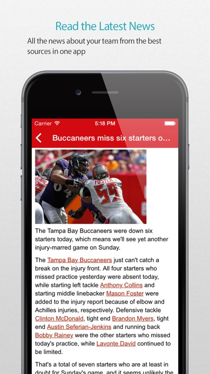 Tampa Bay Football Alarm Pro
