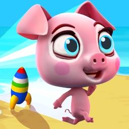 Mega Racing Pig: Piggy Pet Runner - Mini Race Game for Kids