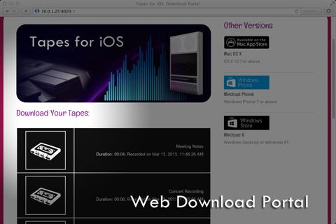 Screenshot of Tapes