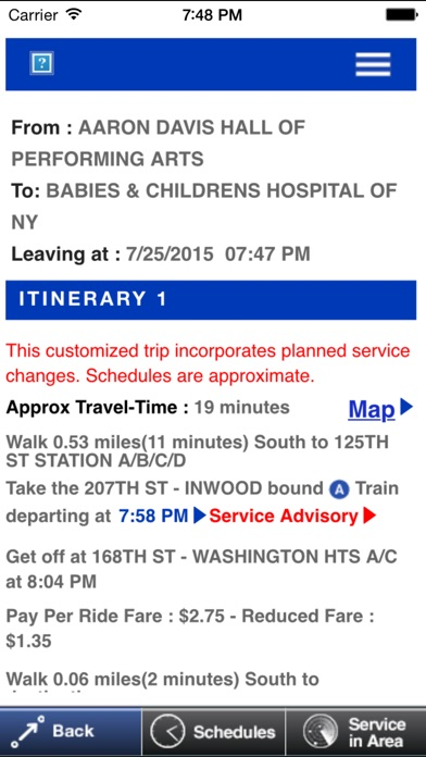 MTA TripPlanner for Windows