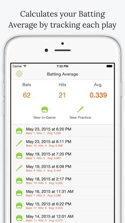 Batting Average - Baseball Stats screenshot-0