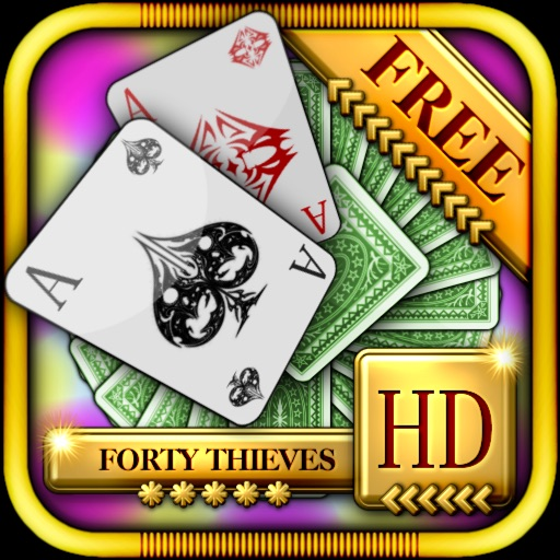 Forty Thieves Solitaire HD Free - The Classic Full Deluxe Card Games for iPad & iPhone