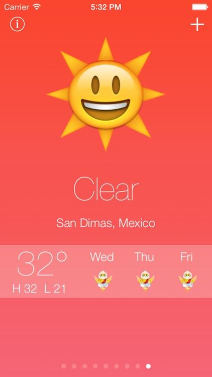 Emoji Weather - Fun emoji and emoticon weather reports and forecast screenshot-3