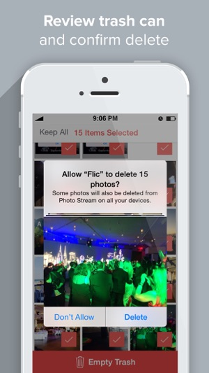 ‎Flic | Delete & Manage Photos Screenshot