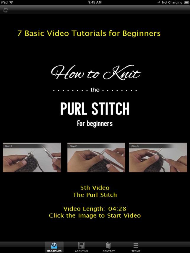 Best iKnitting Video Magazine - Learn to Crochet Made Easy