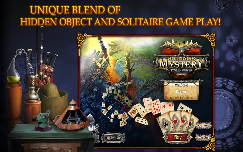 Solitaire Mystery: Stolen Power (Full) screenshot 1
