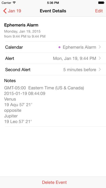 Ephemeris Alarm screenshot-3