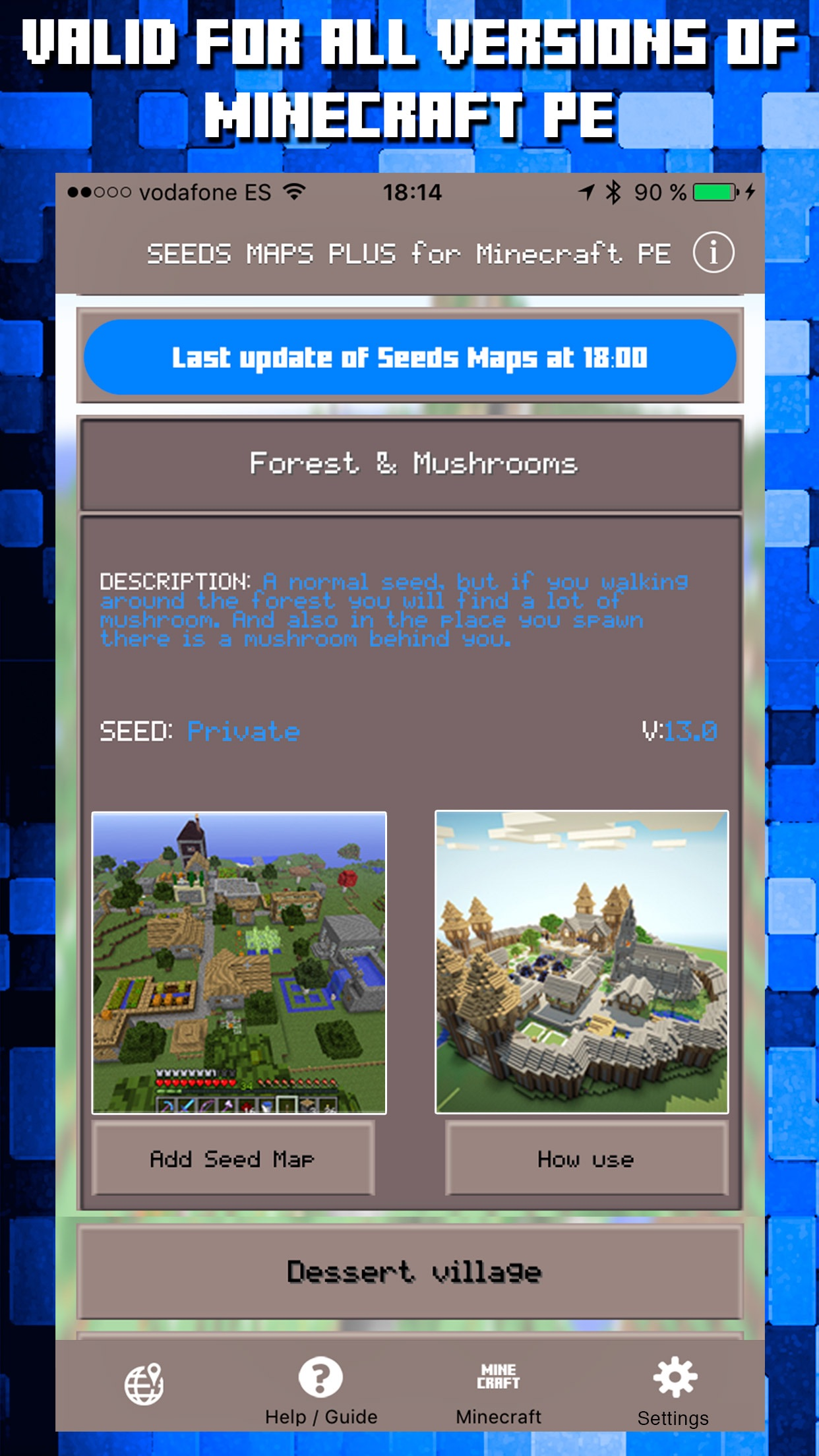 Seeds for Minecraft PE : Free Seeds Pocket Edition Screenshot