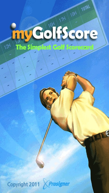 myGolfScore - The Simplest Golf Scorecard screenshot-4