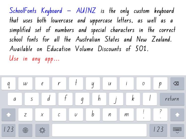 SchoolFonts Keyboard - AU/NZ Lowercase and Uppercase screenshot-0
