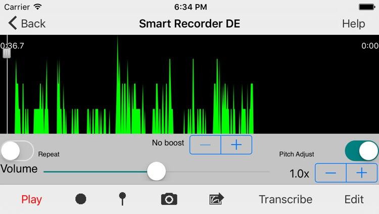 Smart Recorder DE Classic - The transcriber and voice recording app screenshot-4