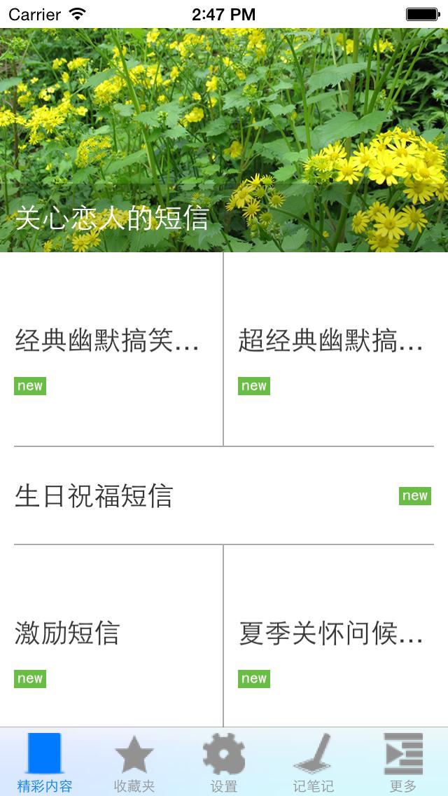 Screenshot #2 pour 经典短信大全