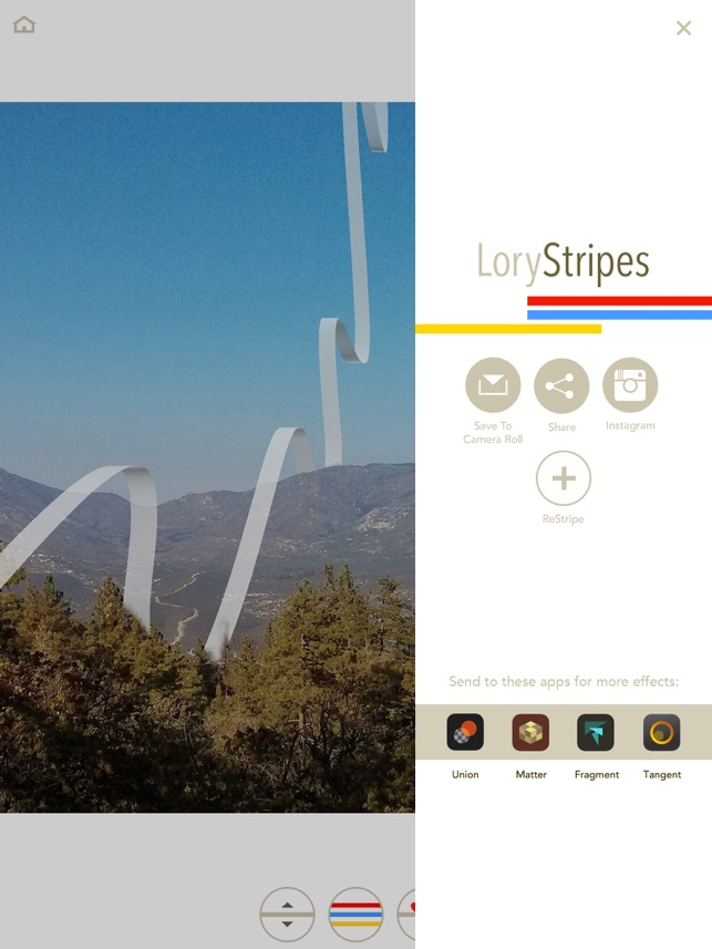 LoryStripes - Add 3D Ribbons and Stripes to Your Photos Screenshot