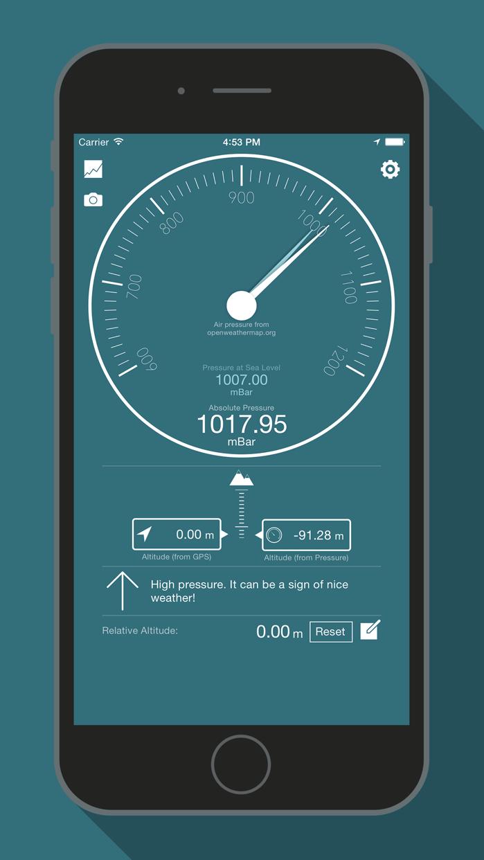 Bar-o-Meter - Altimeter & Barometer Screenshot