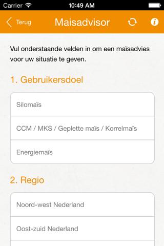 Screenshot of KWS-Maïsmanager