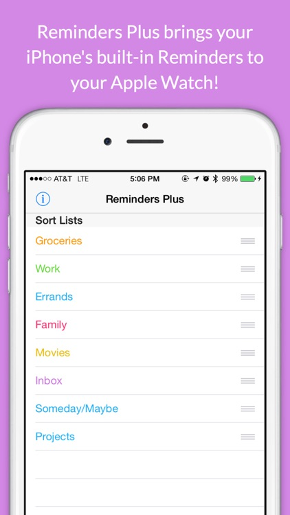 Reminders Plus for Apple Watch