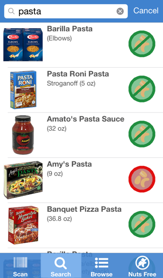 Nut-Free Food Screenshot