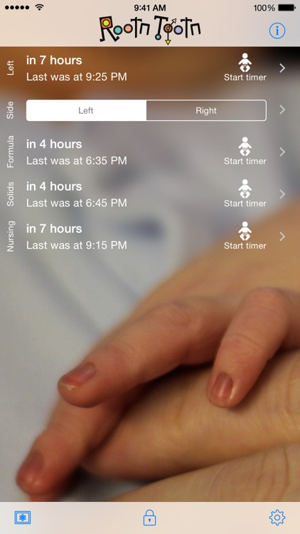 Rootn Tootn - Baby feed timer and reminders screenshot-0