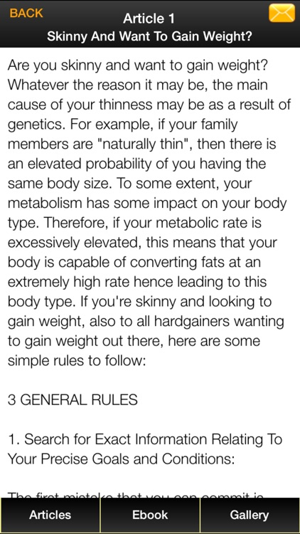 Gain Weight Guide - The Guide To Building Muscles for The Skinny Guy! screenshot-4