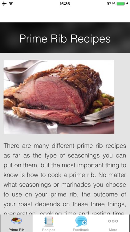 Prime Rib Recipes  - Smoky Jalapeno Rub Recipes screenshot-0