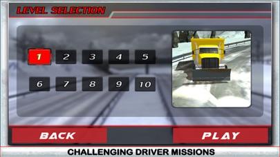 Nieve simulador de conductor de camión 3D - Conducir el gran grúa y aclarar el hielo de la carretera congeladaCaptura de pantalla de5
