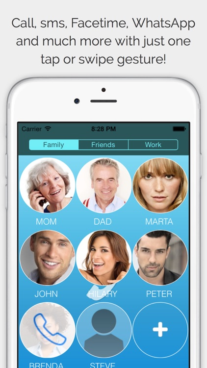CallRight Free   -  call and text your favorite contacts with just one tap! screenshot-0