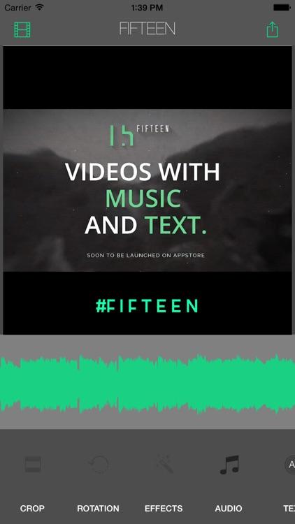 Fifteen - Video Editor