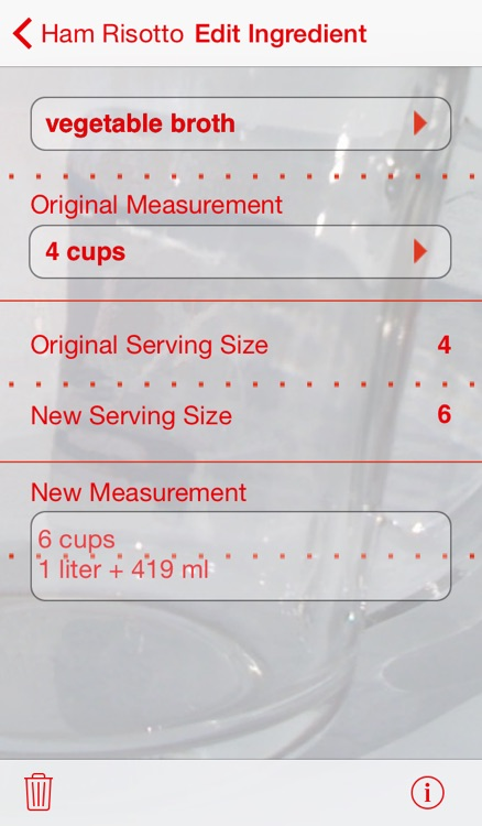 Serving Sizer Recipe Manager