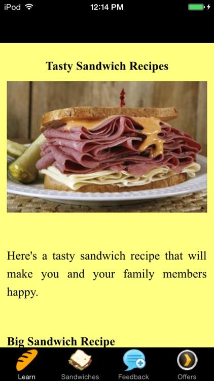 Tasty Sandwich Recipes - Superbowl Recipes
