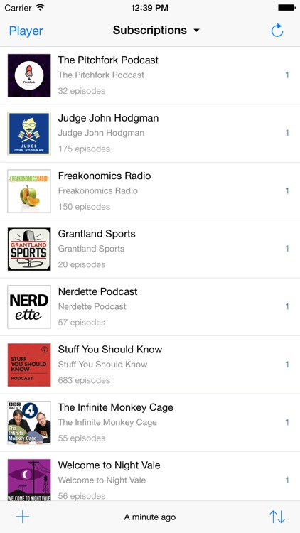 Jimcast - podcast client, manager, catcher. Integration with Podcasts, Instacast, Downcast, Pocket Casts, Overcast