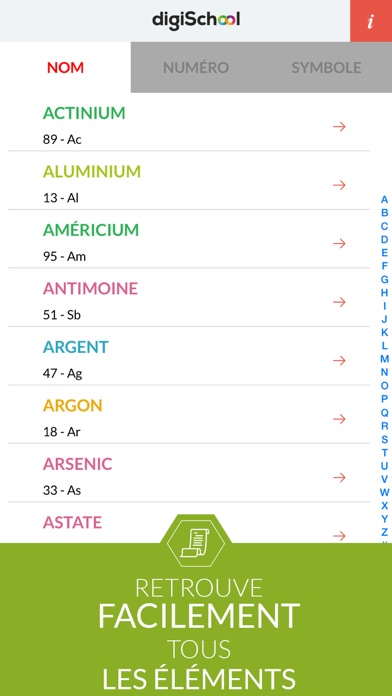 Chemical Elements with digiSchool screenshot two