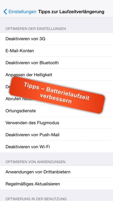 Screenshot for iBattery Pro - Batterieanzeige und Batteriewartung in Germany App Store