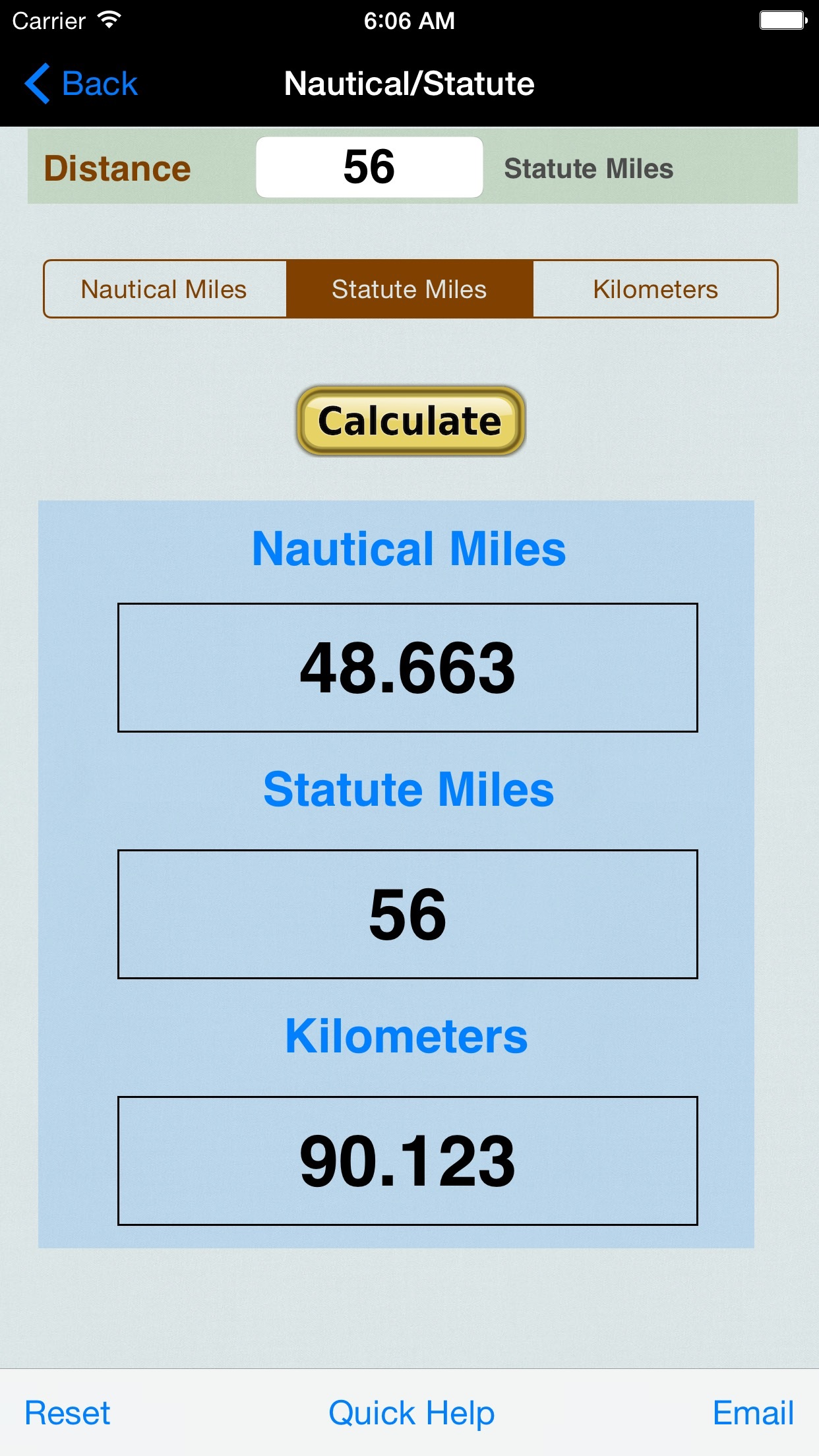 Distance Converter: Feet, Meters, Imperial, & US Unit Screenshot