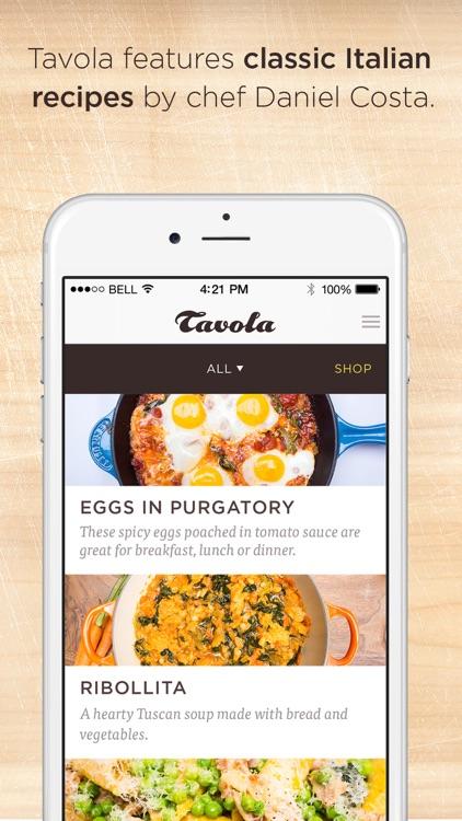 Tavola - Italian recipes, wine pairings and music